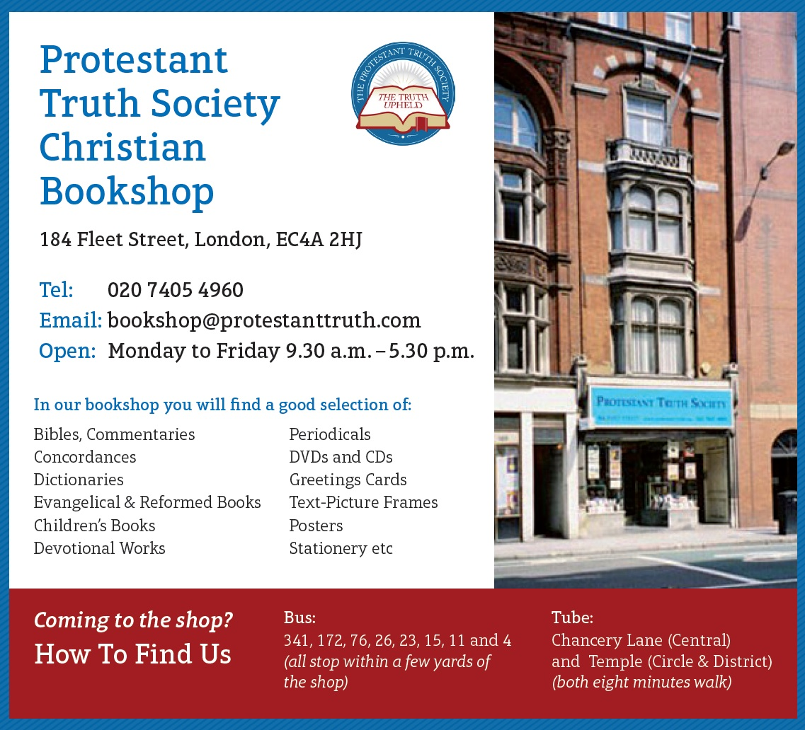 Christian Bookshop | Protestant Truth Society | The Truth Upheld